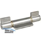 Anschweißband 3tlg.; geschl.; I-Lappen; Stahl blank; Stift 16 mm mit Messinring