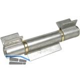 Anschweißband; offen; 3tlg. V-Lappen; Stahl blank; Stift 16 mm mit Messinring