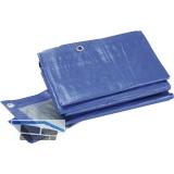 SCHULLER Industrie Schutzplane 180 Gramm blau 3 x 4 m mit Ösen