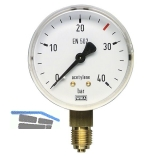 AIR LIQUIDE Inhaltsmanometer ø 63 mm für Azetylen 0-40 bar