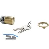 JuNie 7638 ASS Schließeinsatz Zylinder Sperre BN 0101, Messing poliert