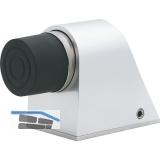KWS Bodentürpuffer - Platte 55 x 80 mm, Höhe 70 mm, Edelstahl matt