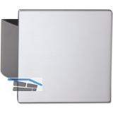 KWS Plattengriff CELINA - 120 x 130 x 10mm, Alu silber elox.