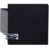 KWS Plattengriff SARAH - 150 x 150 x 18mm, Alu silber elox./schwarz