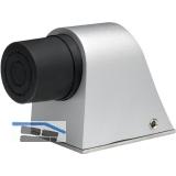 KWS Bodentürpuffer - Platte 55 x 80 mm, Höhe 70mm, Aluminium silberfärbig