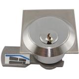 Blechmontagezylinder 29 mm H36000, Messing vernickelt