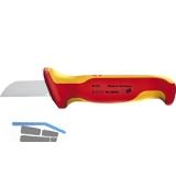 KNIPEX VDE-Kabelmesser fest isoliert mit Sicherheitsgriff Klingenlänge 50 mm
