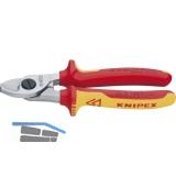 KNIPEX VDE-Kabelschere Länge 165 mm für Kabeldurchmesser 15 mm AWG 1/0