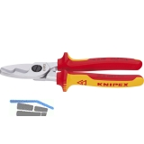 KNIPEX VDE-Kabelschere Länge 200 mm für Kabeldurchmesser 20 mm AWG 2/0