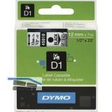 Dymo-Kassetten Beschriftungsband D1 rot/weiß Breite 12 mm Länge 7 m