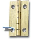 Standard Kassettenscharnier 15x12 mm, Stahl vermessingt