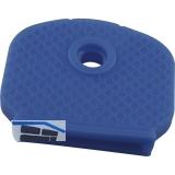 Kennkappe für Zylinderschlüssel Kunststoff hellblau