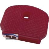 Kennkappe für Zylinderschlüssel Kunststoff rot