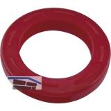 Kennring für Zylinderschlüssel mittel DM 25 mm, Kunststoff rot