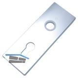 Kipptorschloss-Kurzschild, 58 x 157 mm, PZ 60 mm, silber eloxiert