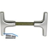 Kipptorschloss-Griffpaar, VK 9 mm, TS 40 - 50 mm, silber eloxiert
