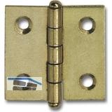 Knopfscharnier - leichte Ausführung 25x25x1 mm, Stahl vermessingt