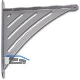 Konsole Sitio starr, Höhe 200 mm, Tiefe 190 mm, weiß-aluminium lackiert