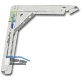 Konsole Klapponette klappbar mit Sicherung, Tiefe 300 mm, verzinkt