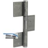Konstruktionsband 3-tlg. 220 x 50 x 4 mm, Stahl blank
