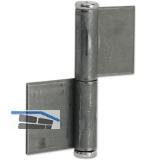 Konstruktionsband 2 tlg.  140 x 50 x 4 mm, Stahl blank