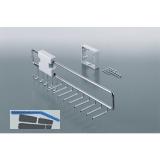 Krawatten- und Gürtelauszug Ideal 74x118x455 mm, Stahl verchromt poliert