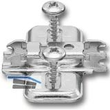 BLUM CLIP Kreuzmontageplatte, vorm. Spax-Schrauben, HV: Langloch, Distanz 0 mm