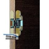 Kubikina K6100 3D Einlass-Scharnier, Zamak chrom matt