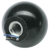 Kugelknopf aus Kunststoff Außen ø 20 mm mit Innengewinde M 5