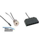LED-Sensorschalter Touch-LED dimm, alufarbig, 12 V/DC, inkl. 6-fach Verteiler