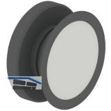 Glaspunkthalter Mini, 20 mm, 6 - 8 mm Glas,Kunststoff schwarz/Kappe Edelstahl