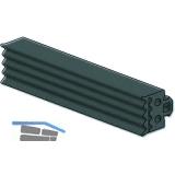 Dichtung 41AL-EPDM, für Basisprofil Glasstärke 8 & 10 mm, Kunststoff grau
