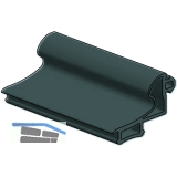 Dichtung 41AL-EPDM-B, für Zargenprofil Glasstärke 8 & 10 mm, Kunststoff grau