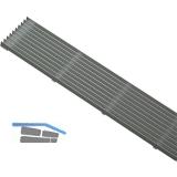 Lüftungsgitter Lamellen Länge 480 mm, Breite 84 mm, Aluminium natur eloxiert