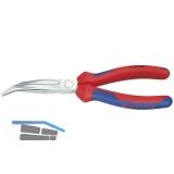 KNIPEX Langschnabelzange DIN 5745 gebogen 2K-Griff Länge 200 mm