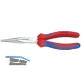 KNIPEX Langschnabelzange DIN 5745 gerade 2K-Griff Länge 200 mm
