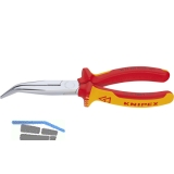 KNIPEX VDE-Langschnabelzange DIN 5745 gebogen Länge 200 mm