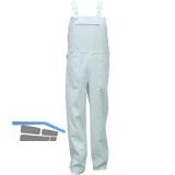 Latzhose Standard weiß Gr.48 100% Baumwolle