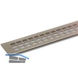 SECOTEC Lüftungsgitter Aluminium Titan/Edelstahl Effekt 100X400 mm SB-1