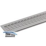 SECOTEC Lüftungsgitter Aluminium natur eloxiert 100X400 mm SB-1