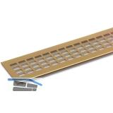 SECOTEC Lüftungsgitter Aluminium gold eloxiert 100X1000 mm SB-1