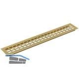 Lüftungsgitter Länge 1000 mm, Breite 100 mm, Aluminium gold eloxiert