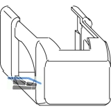 MACO Abdeckung kurz Ecklager AS/DT/PVC, braun F5 (42195)