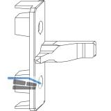 MACO Anpressverschluss, Flügelteil, für Beschlagsnut (94089)