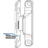 MACO Anpressverschluss, Flügel- und Rahmenteil Holz, silber (52389)