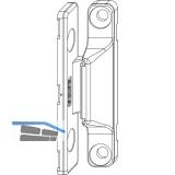 MACO Anpressverschluss, Flügel- und Rahmenteil PVC, silber (54783)