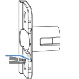 MACO Anpressverschluss, Rahmenteil, Eurofalz FT30 13 V (368015)