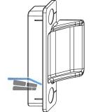 MACO Anpressverschluss verdeckt für PVC, Flügelteil , 13V, silber (94185)