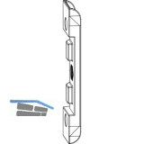 MACO Anpressverschluss verdeckt, Rahmenteil, Eurofalz FT24 13V, Tricoat (359572)