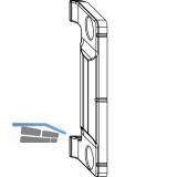MACO Anpressverschluss verdeckt, Rahmenteil, Eurofalz FT30 13V, grau (367510)